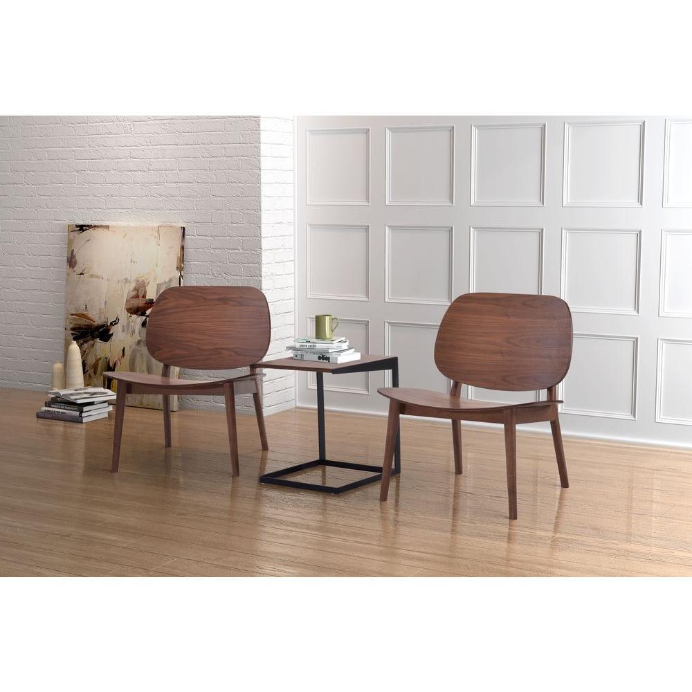 Priest Walnut Wood Side Chair (Set of 2)