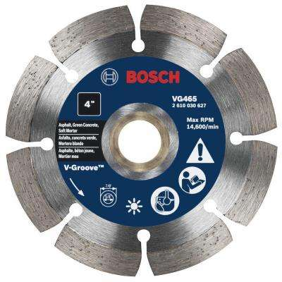 4 in. Segmented Rim V-Groove Diamond Blade for Soft Materials
