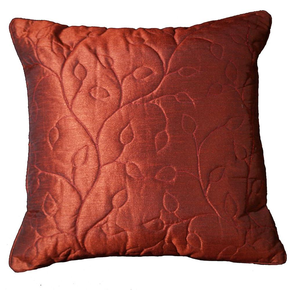 LR Resources Contemporary Hildegarde Currant 18 in. x 18 in. Square Decorative Accent Pillow (2-Pack)