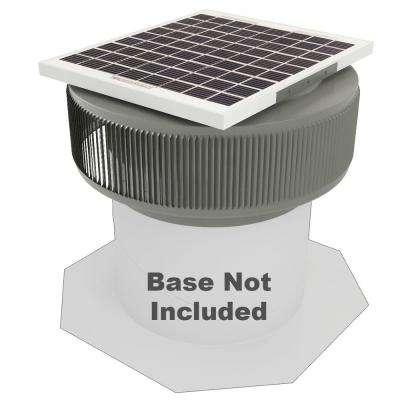 740 CFM Weatherwood Powder Coated 10-Watt Solar Powered 12 in. Dia Retrofit Attic Roof Fan