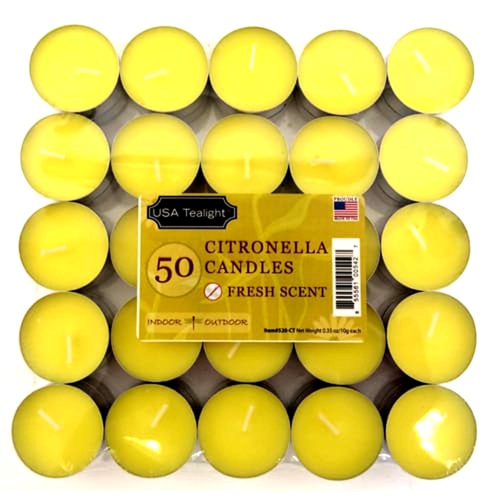 Citronella Tealight Candles (Set of 50)