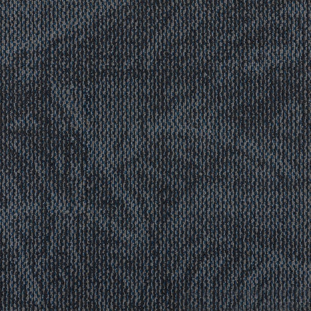 Royal Blue blood 19.68 in. x 12 in. Carpet Tiles (8 Tiles/Case)