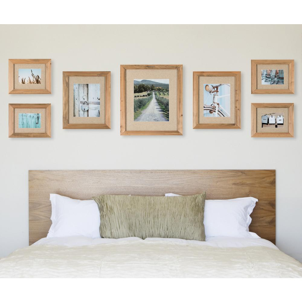 Pinnacle Gallery Perfect 11 in. x 14 in. Rustic Brown Collage ...