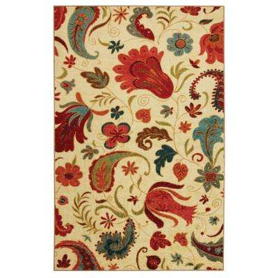 Tropical Acres Multi 5 ft. x 8 ft. Area Rug