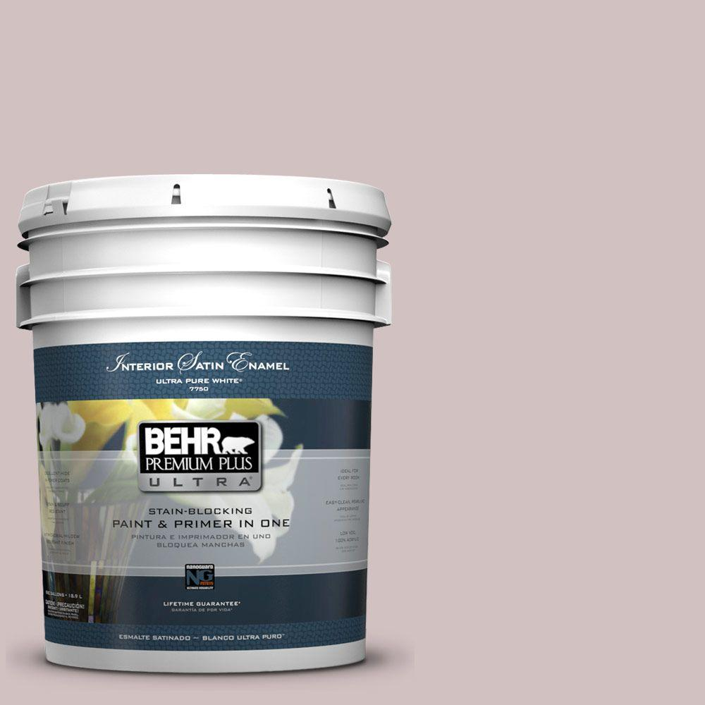 5-gal. #120E-2 French Taupe Satin Enamel Interior Paint
