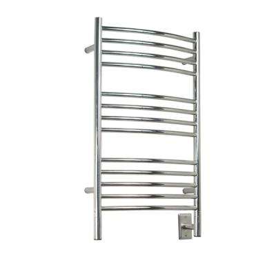 Jeeves C-Curved 20.5 in. W x 33 in. H 13-Bar Electric Towel Warmer in Polished Stainless Steel