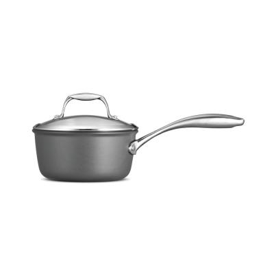 Gourmet 1.5 Qt. Hard Anodized Saucepan with Lid