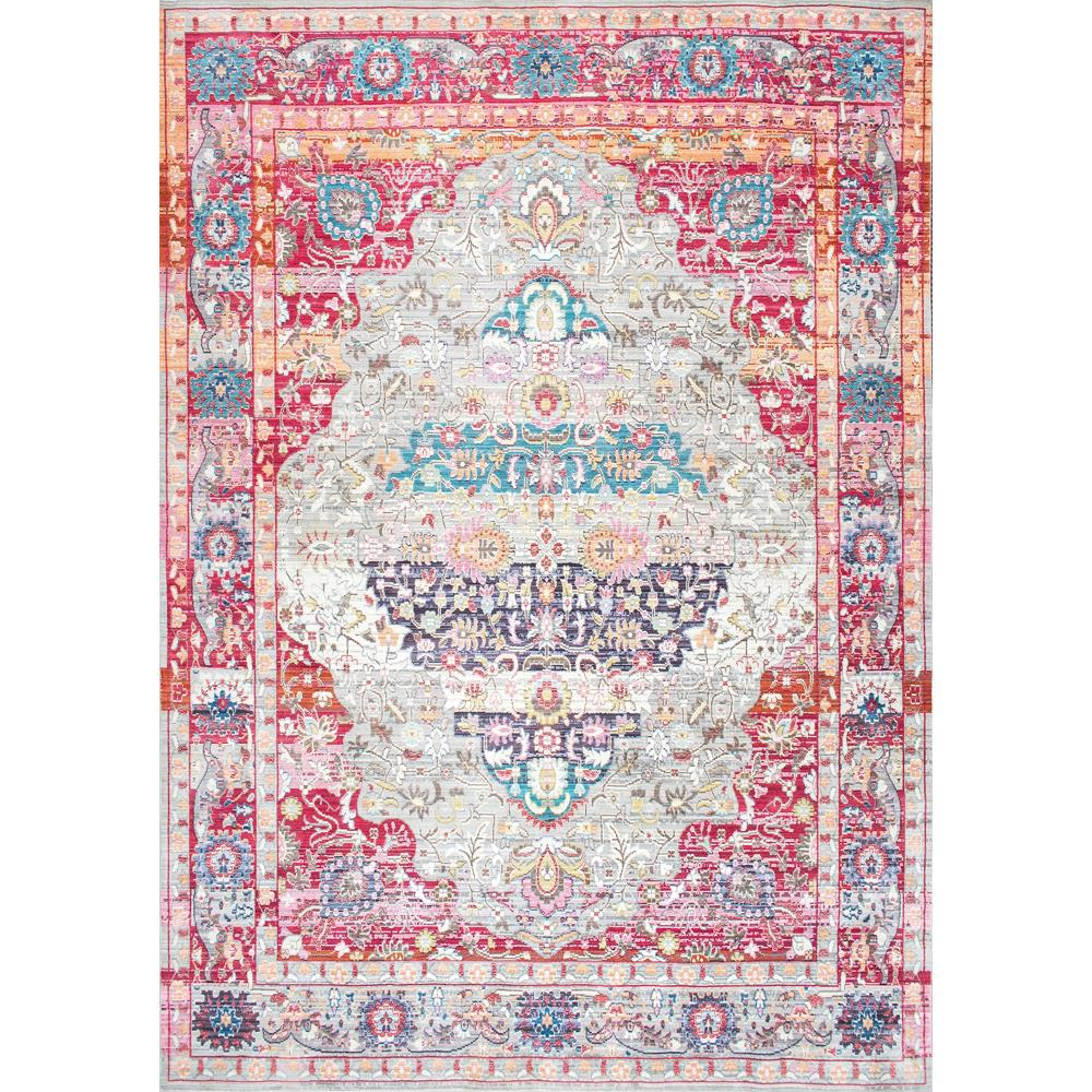 Nuloom Crandall Turquoise 7 Ft 10 In X 9 Ft 6 In Area: NuLOOM Vintage Medallion Elmer Red 5 Ft. X 8 Ft. Area Rug