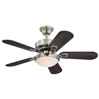 Cassidy 36 in. Indoor Brushed Nickel Ceiling Fan