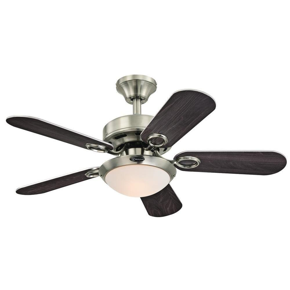 Westinghouse cassidy 36 in indoor brushed nickel finish ceiling fan westinghouse cassidy 36 in indoor brushed nickel finish ceiling fan aloadofball Image collections
