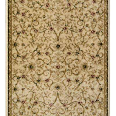 Canyon Leyla Ivory 26 in. x 50 ft. Stair Runner