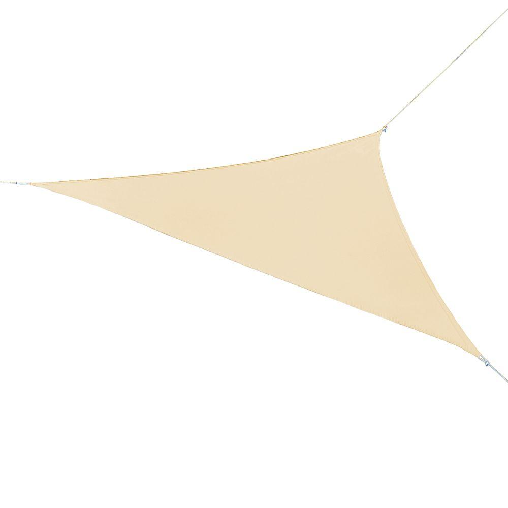 16.5 ft. x 16.5 ft. Pebble Triangle Shade Sail