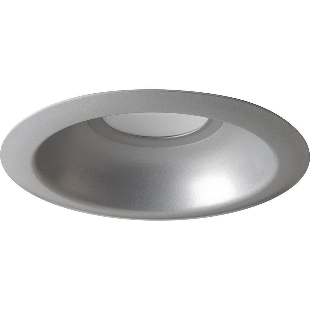 6 in. Metallic Gray Integrated LED Recessed Trim