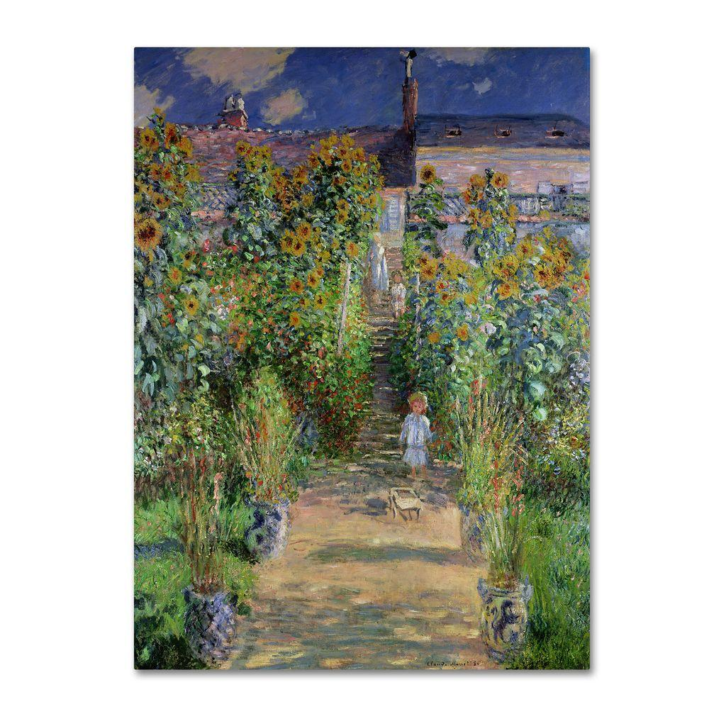 18 in. x 24 in. The Artists Garden at Vetheuil Canvas