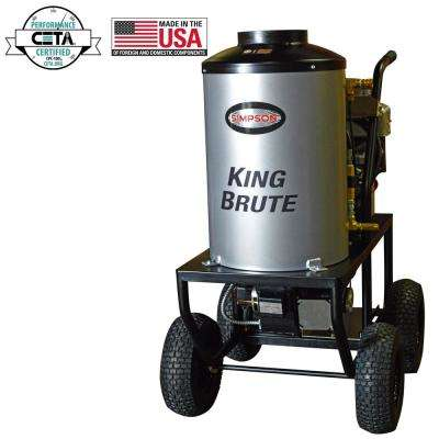 King Brute 3000 psi at 2.8 GPM BRIGGS and STRATTON with CAT Triplex Pump Professional Gas Pressure Washer