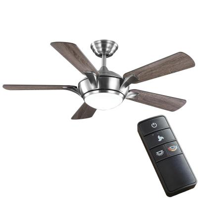 Chelton 46 in. Integrated LED Brushed Nickel Ceiling Fan with Light and Remote Control with Color Changing Technology