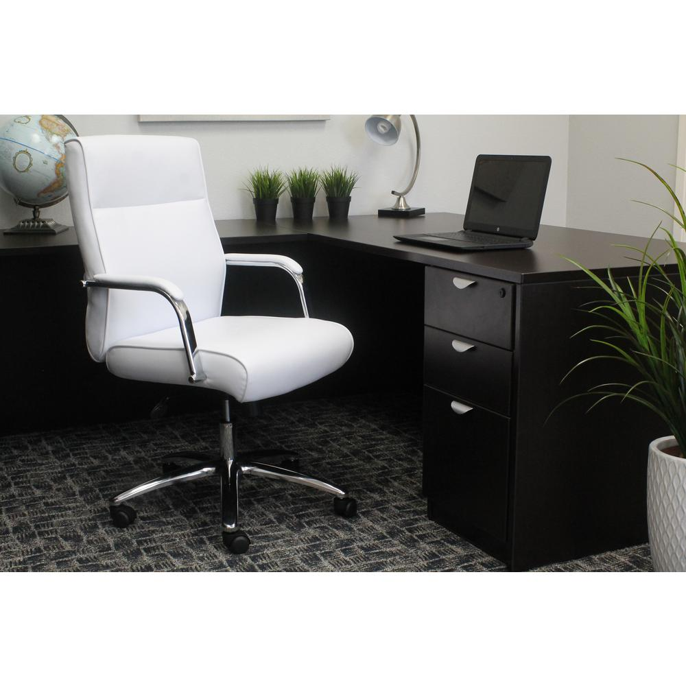 Boss White Modern Executive Conference Chair-B696C-WT - The Home Depot