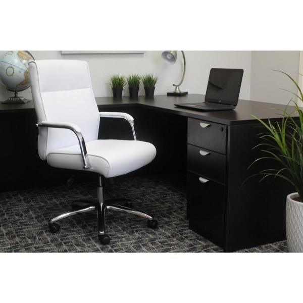Boss White Modern Executive Conference Chair