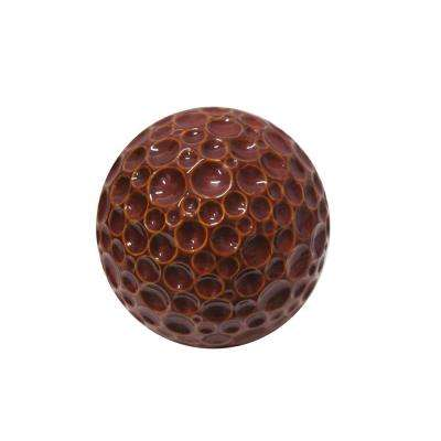 10 in. Red Ceramic Gazing Globe