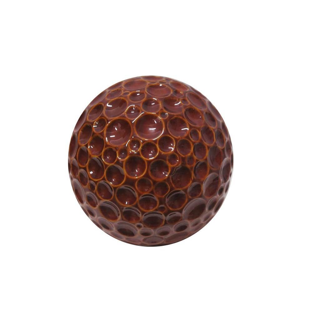 10 in. Red Ceramic Gazing Globe