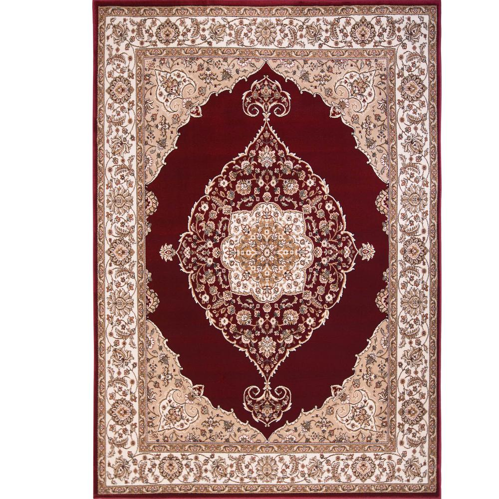 Home Dynamix Bazaar Emy Red/Ivory 7 ft. 10 in. x 10 ft. 1 in. Area ...