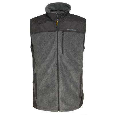 Momentum Men's 2X-Large Dark Heather Grey Polyester Microfleece Vest
