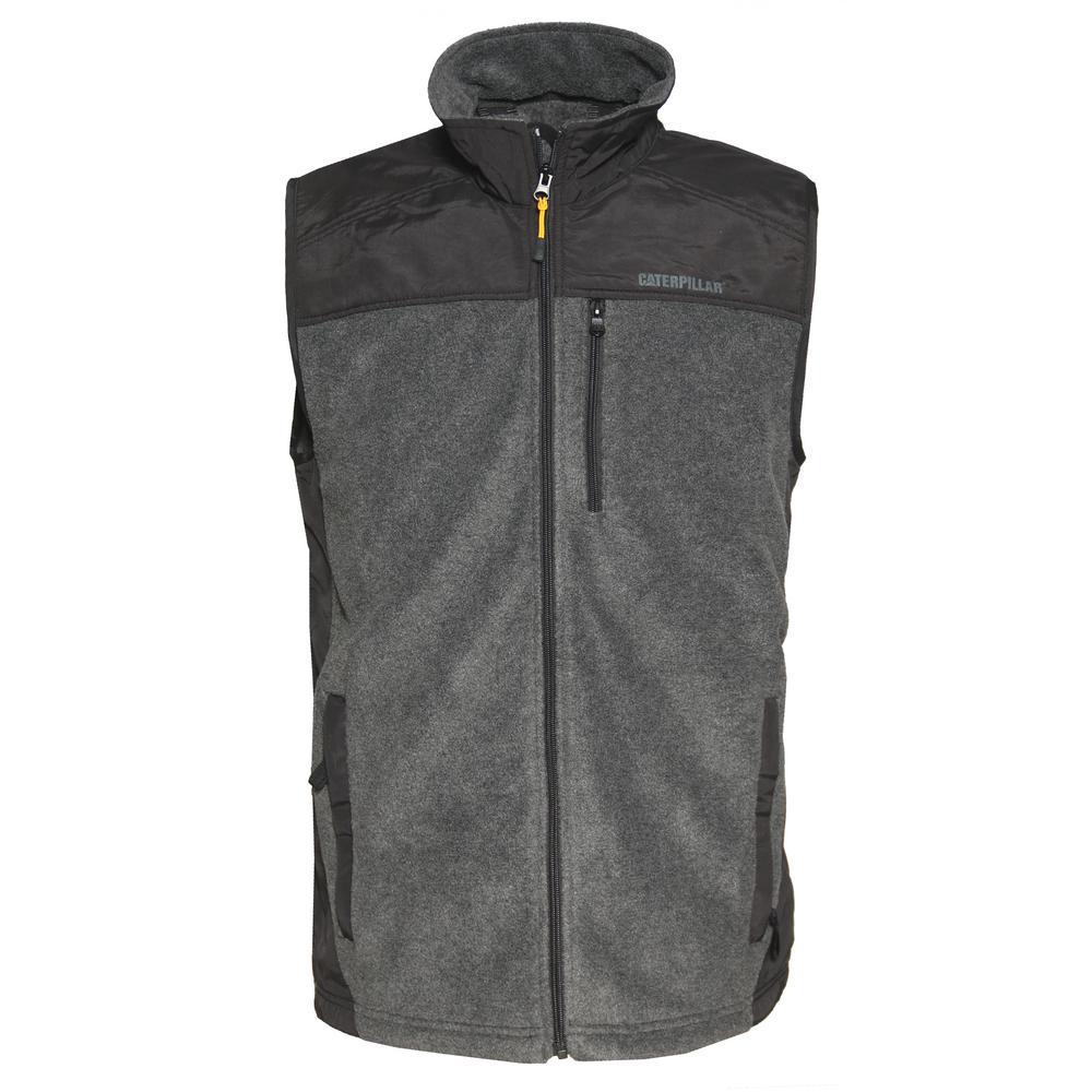 Momentum Men's X-Large Dark Heather Grey Polyester Microfleece Vest