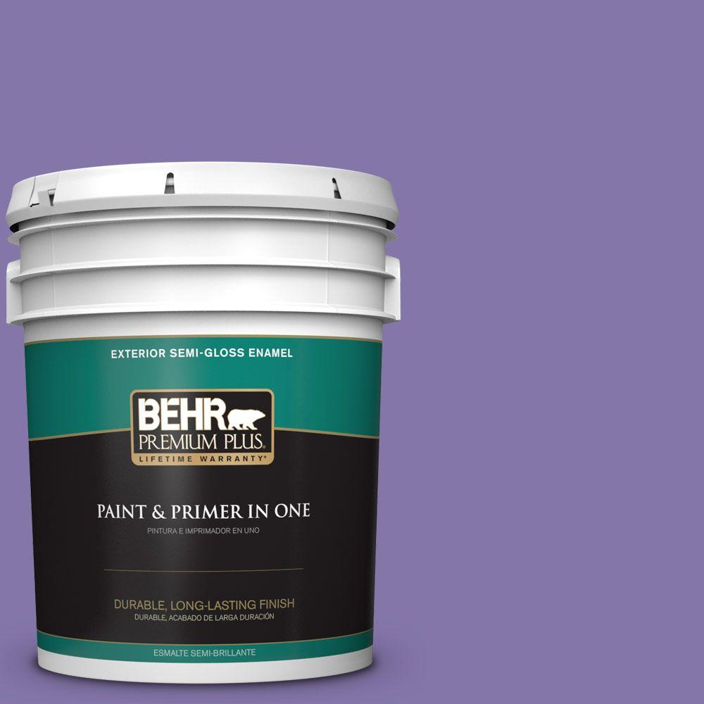 5-gal. #640B-6 Grape Parfait Semi-Gloss Enamel Exterior Paint