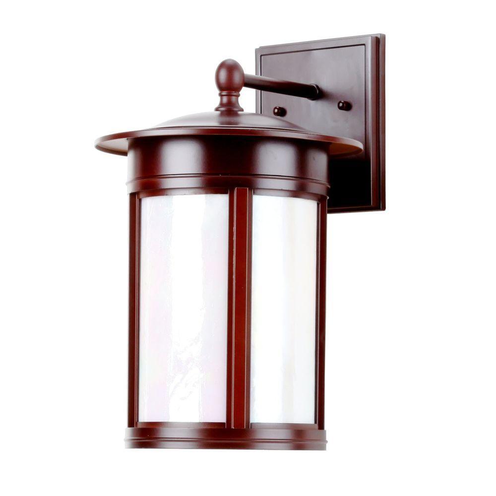 Hampton Bay 3-Light Oil Rubbed Bronze Outdoor Wall Lantern