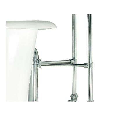 1-1/2 in. I.D. x 1-3/16 in. O.D. Brace Ring Kit for Claw Foot Tub Drain and Free-Standing Supply Lines in Satin Nickel