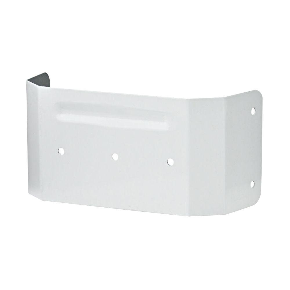 3 in. x 4 in. White Downspout Clip