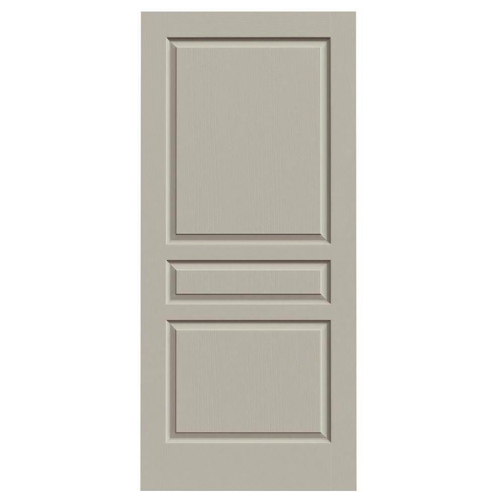 36 in. x 80 in. Avalon Desert Sand Painted Textured Hollow
