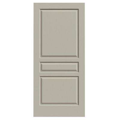 36 in. x 80 in. Avalon Desert Sand Painted Textured Hollow Core Molded Composite MDF Interior Door Slab