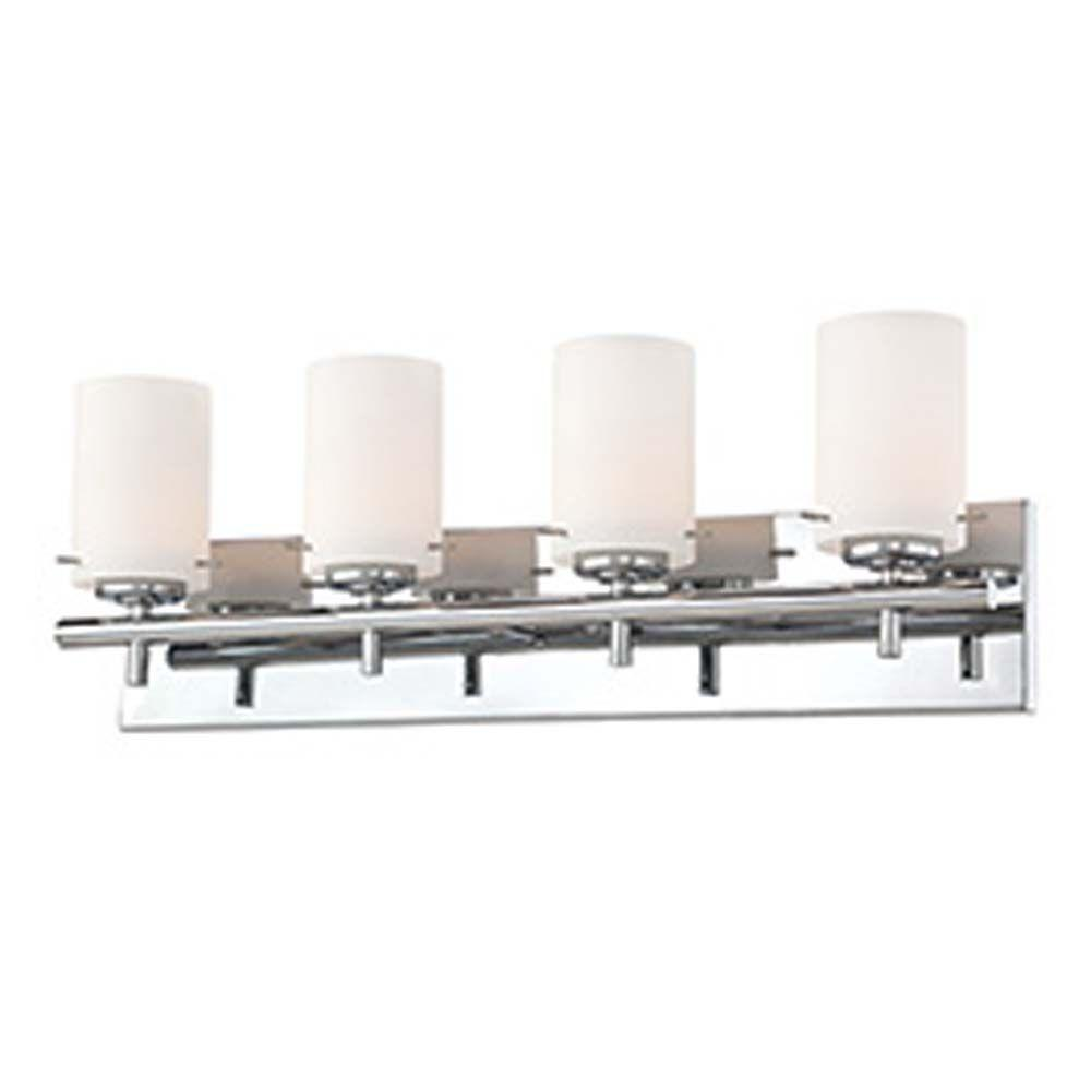 Filament Design Spectra 4 Light Chrome Bath Vanity Light With Opal White Glass Cli Co46038249