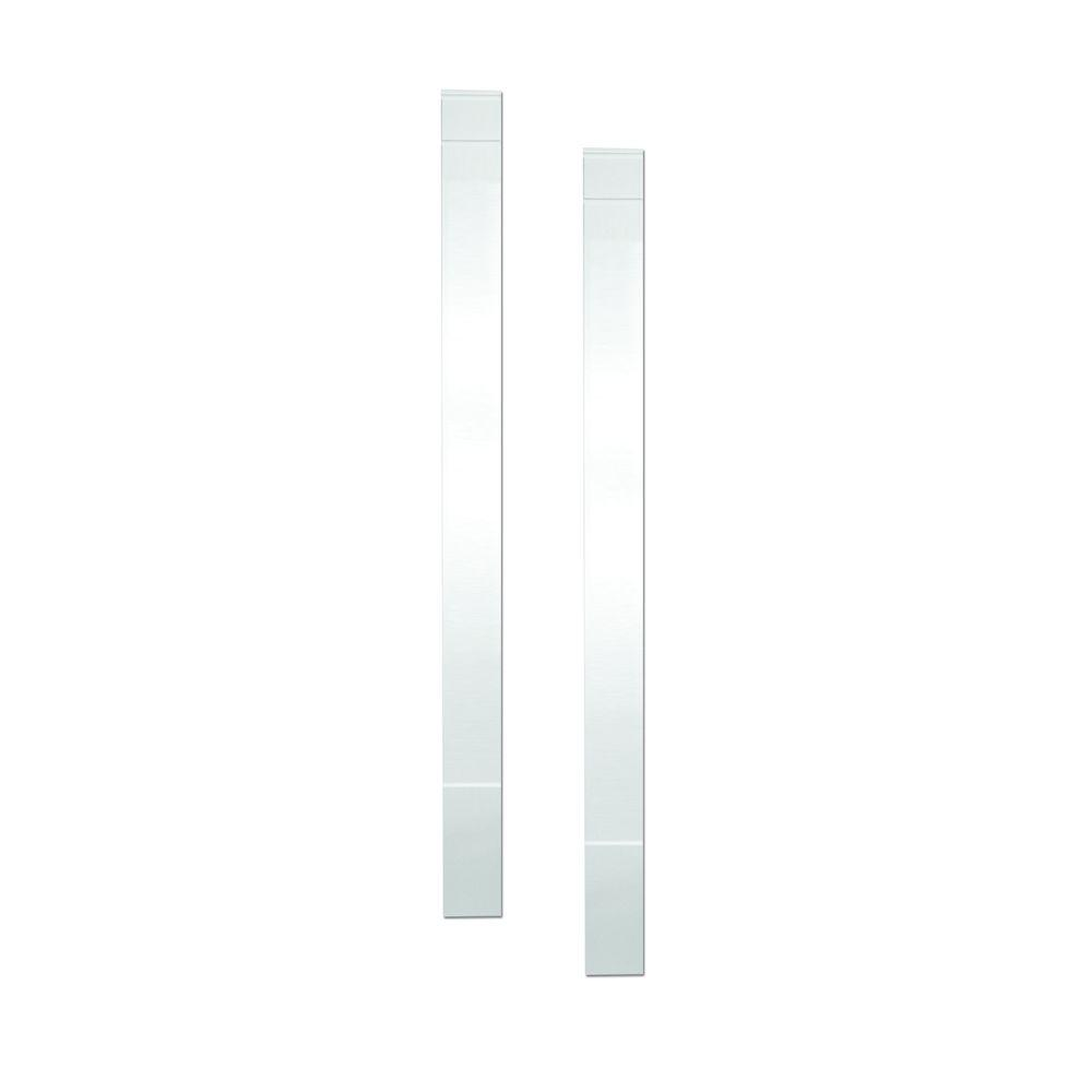 Fypon 1-5/16 in. x 7 in. x 90 in. Polyurethane Plain Economy Pilasters Moulded with Plinth Block - Pair