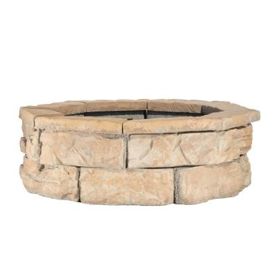 30 in. Fossill Brown Fire Pit Kit