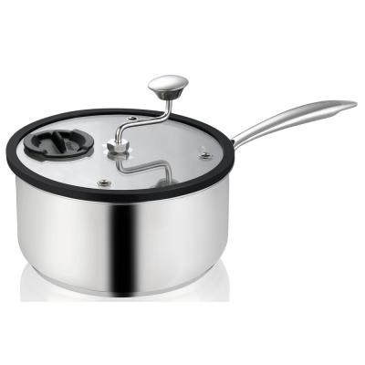 Zippy Popcorn Popper and Snack Maker in Nonstick Stainless Steel with Patented Mixer, 5.5 Qt