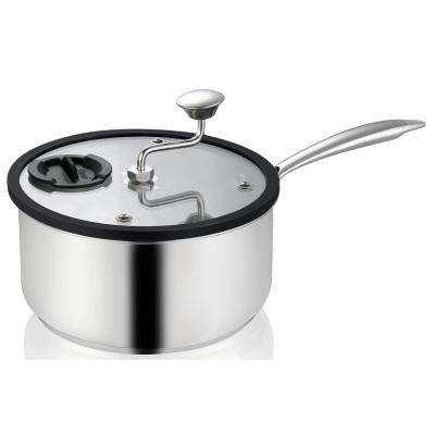 Zippy Popcorn and Snack Maker in Nonstick Stainless Steel, with Patented Mixer