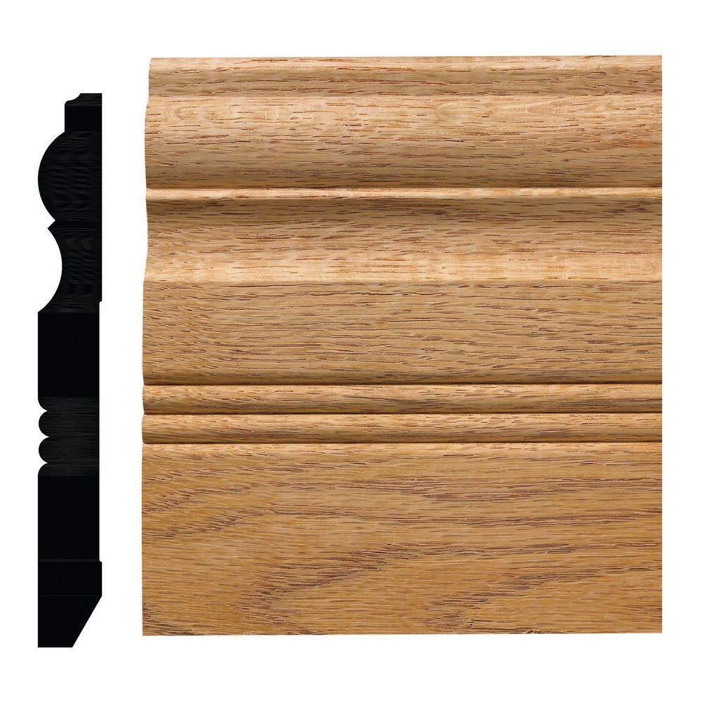 ornamental mouldings 3 4 in x 6 1 2 in red oak victorian baseboard moulding oml30oak the. Black Bedroom Furniture Sets. Home Design Ideas