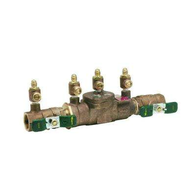 3/4 in. Brass FPT x FPT Reduced-Pressure Zone Assembly Backflow Preventer