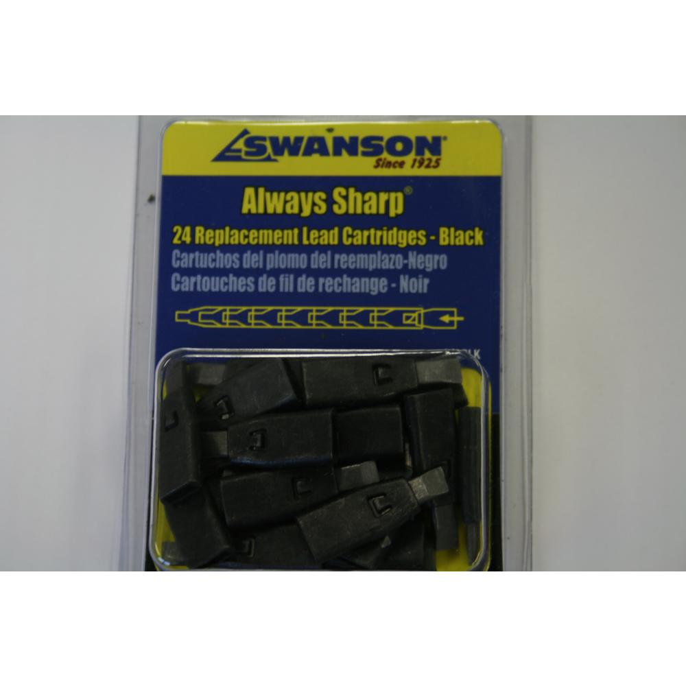 Swanson Black Mechanical Carpenter Pencil Replacement Tips