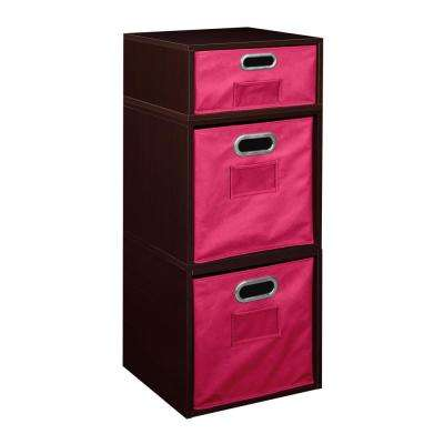 Cubo 13 in. x 32.5 in. Truffle 2 Full-Cube and 1 Half-Cube Organizer with Foldable Storage Bins