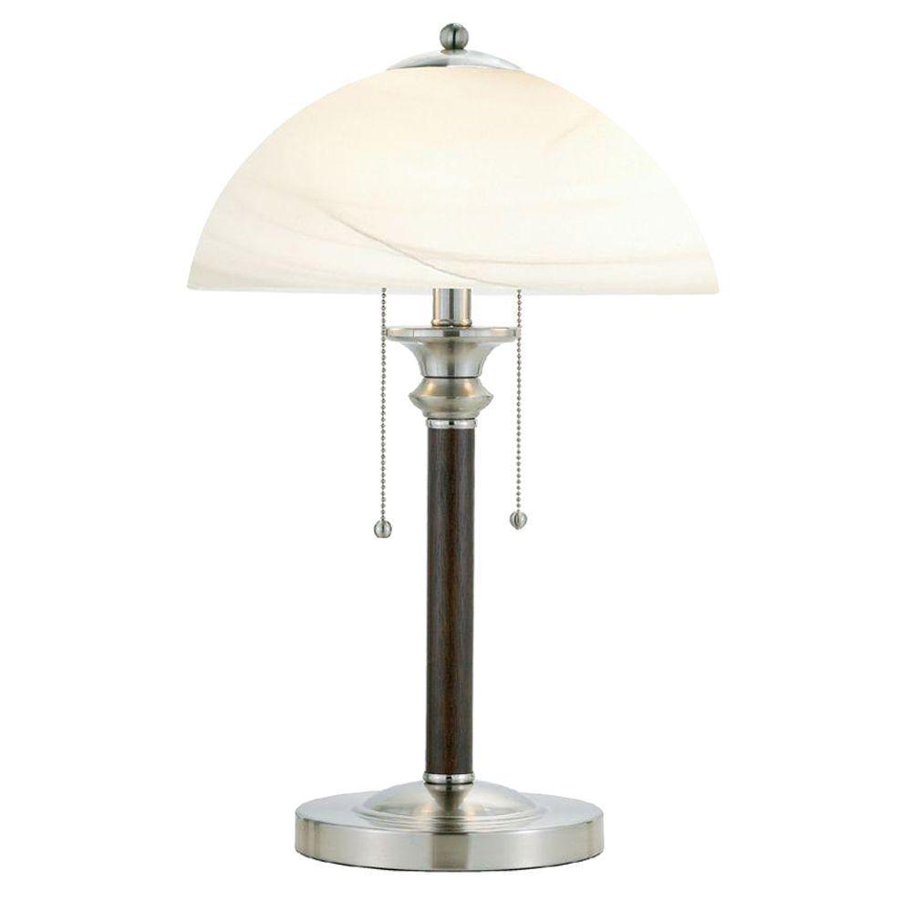 Lexington 22.5 in. Dark Walnut Table Lamp