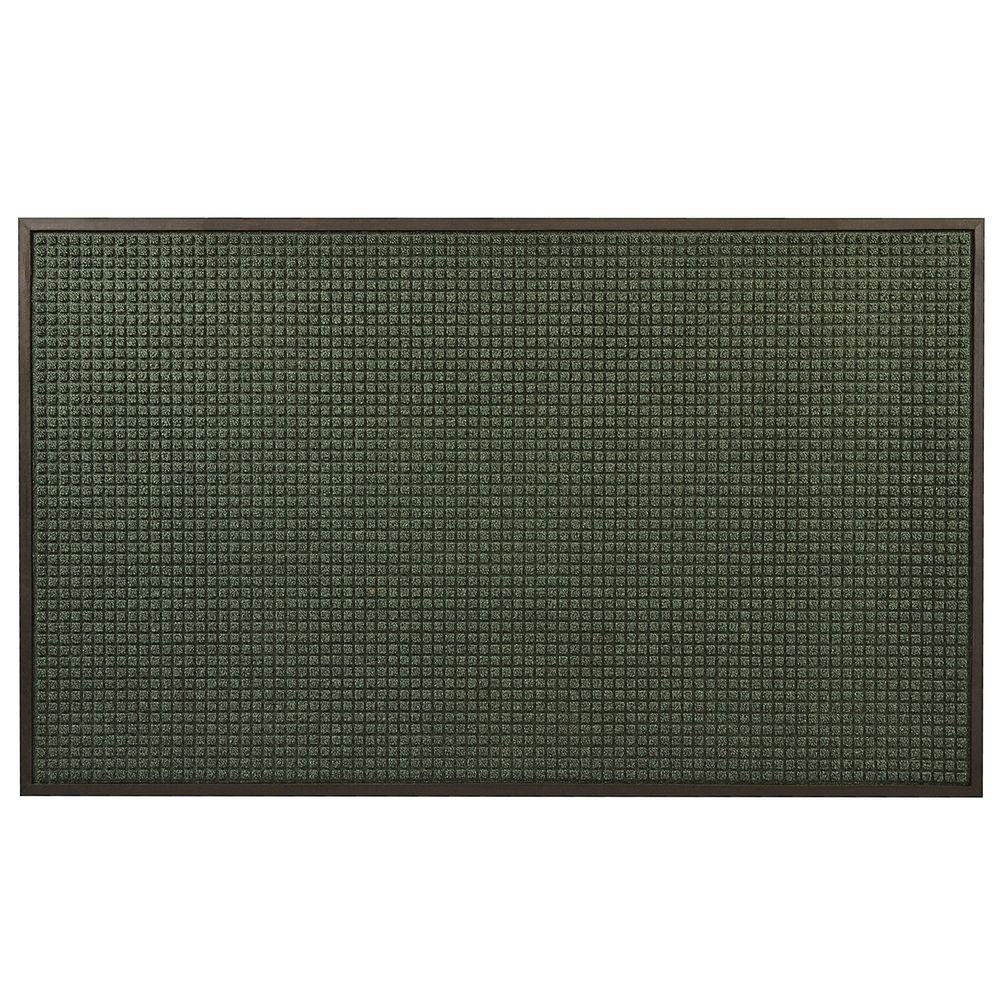 Guzzler Hunter Green 24 in. x 36 in. Rubber-Backed Entrance Mat