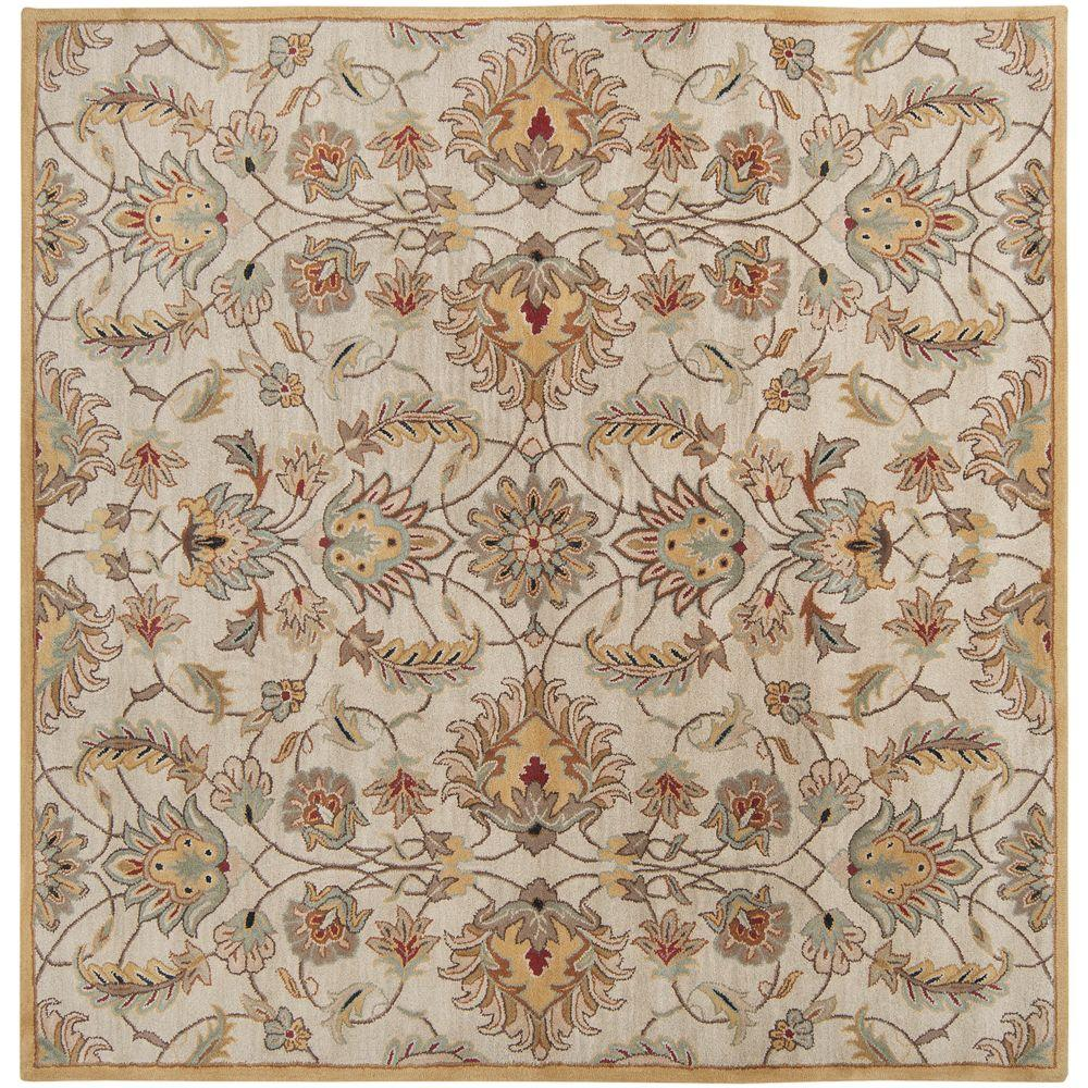John Gold 8 ft. Square Area Rug
