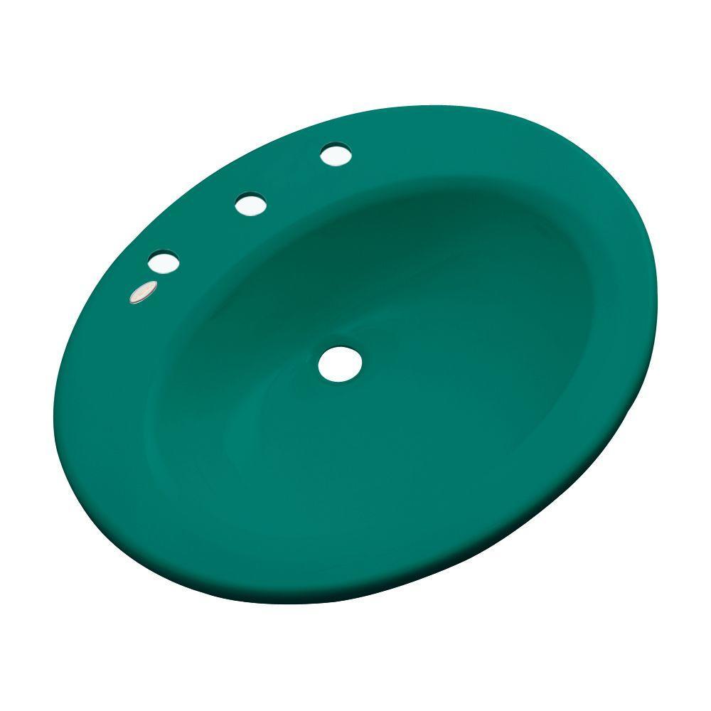 Thermocast Tierra Drop-In Bathroom Sink in Verde
