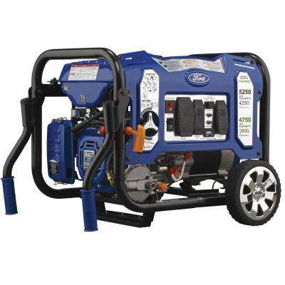 5,250-Watt/4,250-Watt Dual Fuel Gasoline/Propane Powered Electric/Recoil Start Portable Generator 224 cc CARB Compliant