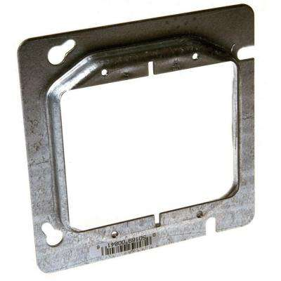 4-11/16 in. Square Two Device Mud Ring, 1/2 in. Raised (25 Pack)