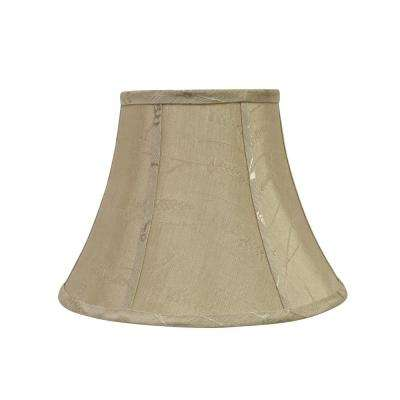 13 in. x 9.5 in. Oatmeal and Wheat Design Bell Lamp Shade