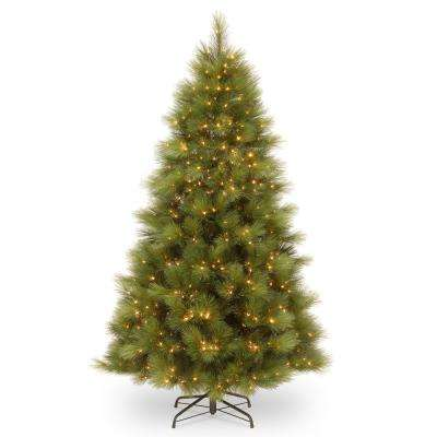 7-1/2 ft. Arcadia Pine Hinged Tree with 650 Clear Lights